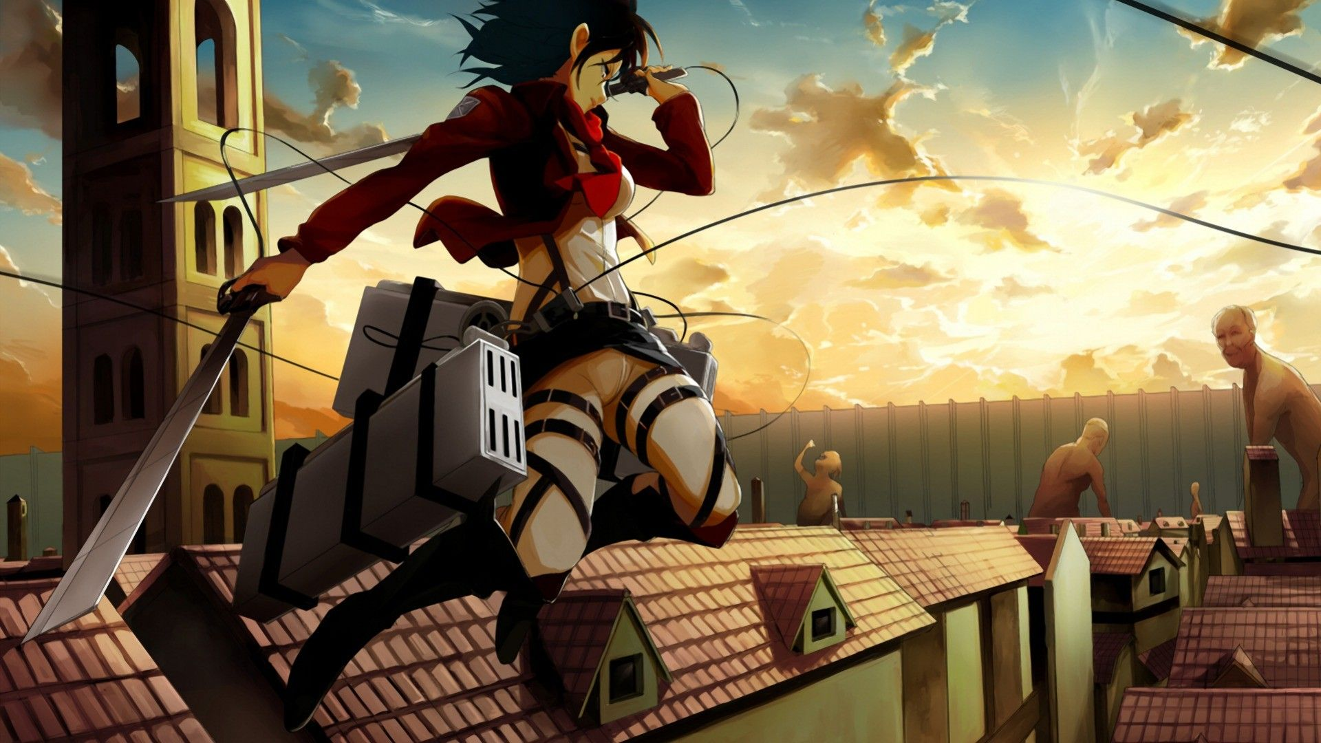 Download Hd Wallpapers Of 67049 Shingeki No Kyojin Mikasa Ackerman Free Download High Quality And Widescreen Res Attack On Titan Anime Attack On Titan Titans