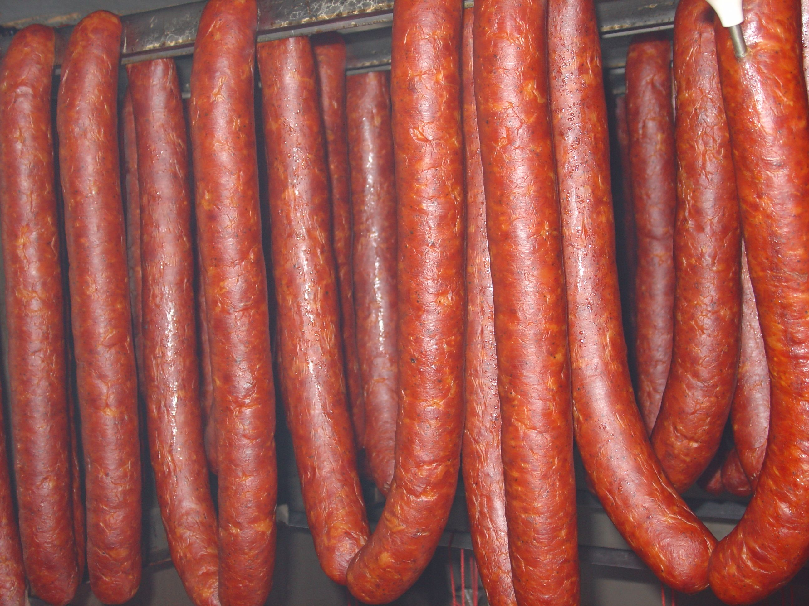 Paprika Sausage A double smoked sausage. Great in scrambled eggs, on kabobs, or even just sliced up. One of our best sellers.