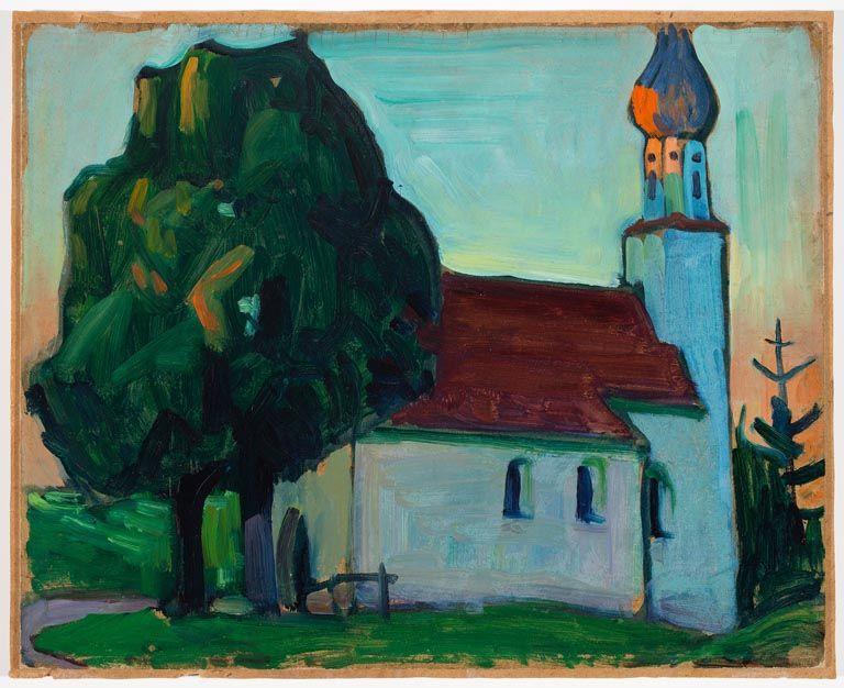 Gabriele Münter Die Dorfkirche