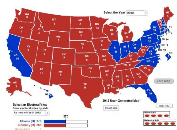 The Geographically Smallest Winning Electoral College Map - Us map with population