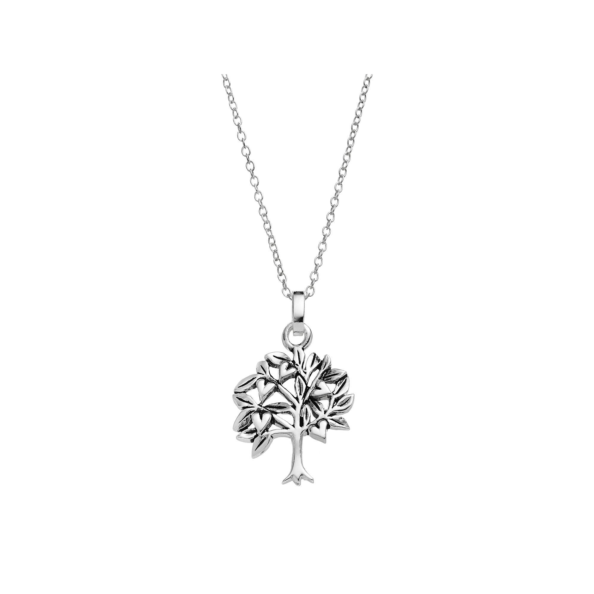 pin cubic set silver zirconia pure women pendant s tree sterling necklace stud earring family