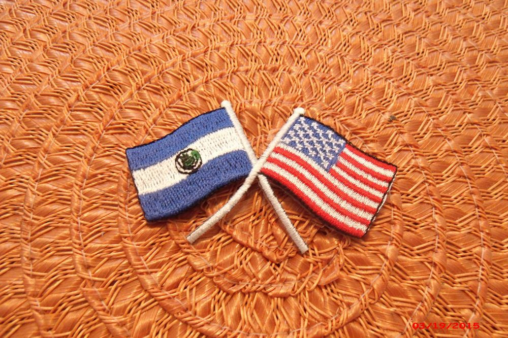 Patch printed embroidered travel souvenir biker backpack flag  cuba