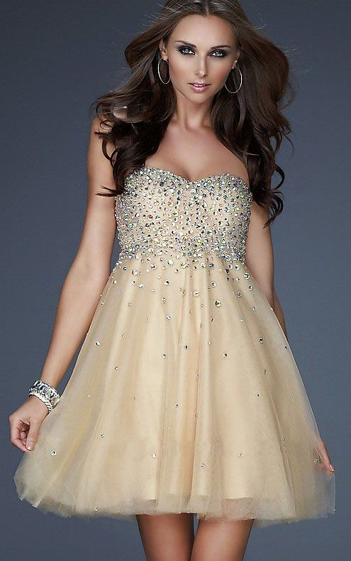 cutenfanci.com champagne cocktail dresses (11) #cocktaildresses ...
