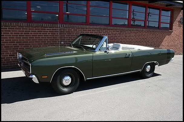 1969 Dodge Dart Gts Convertible With A 383 4 Speed Muscle Cars