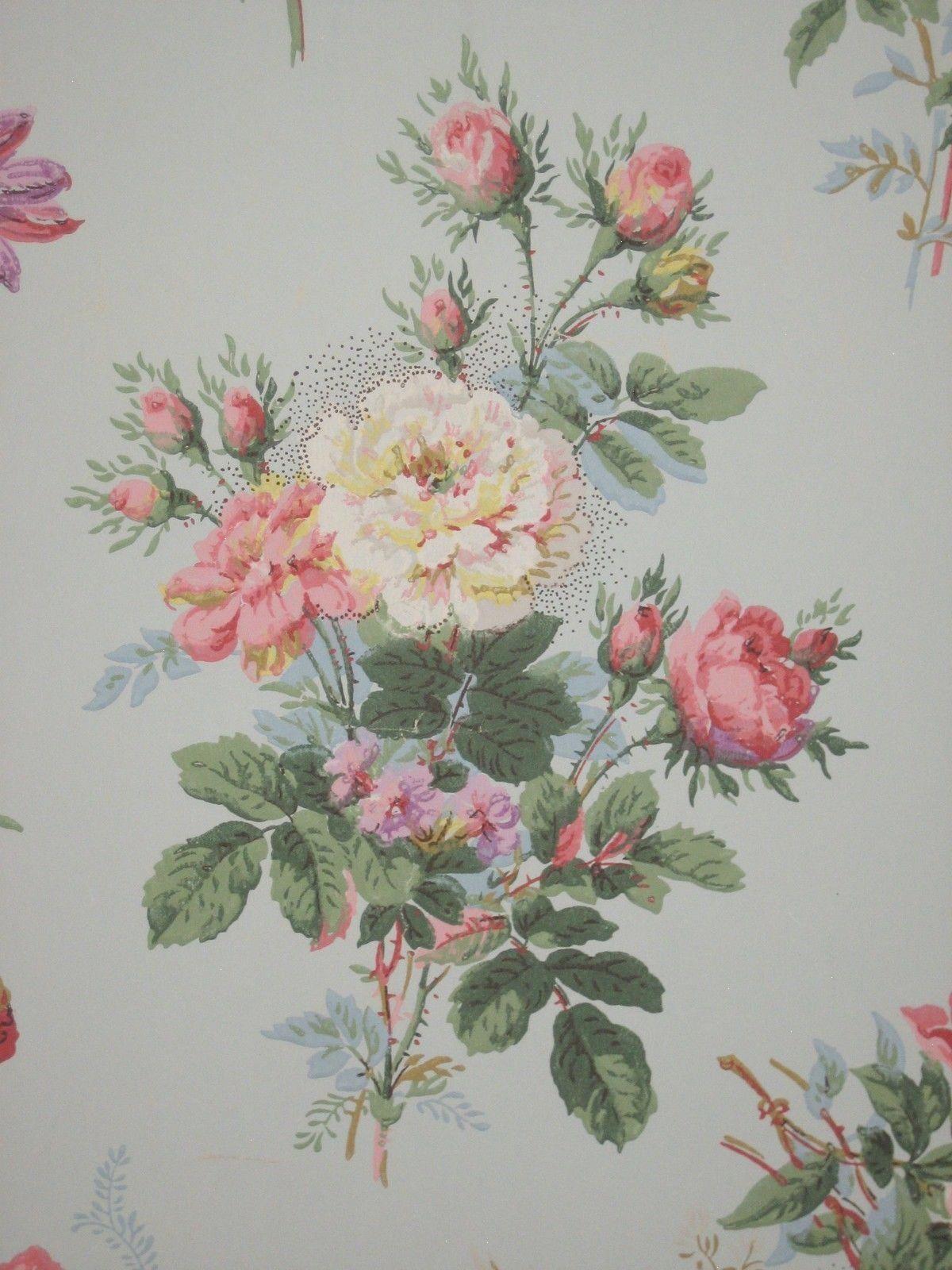 Brewster 4307029 Vintage Legacy III Floral Stripe