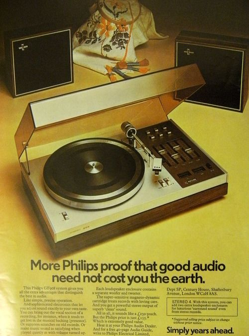 Vintage Philips Advertisement Vintage Records Philips Hifi