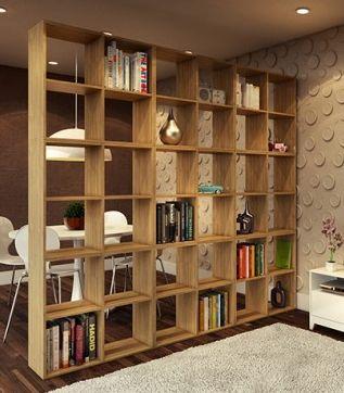 Estante vazada decora o divis o de ambientes pesquisa - Libreros de madera modernos ...