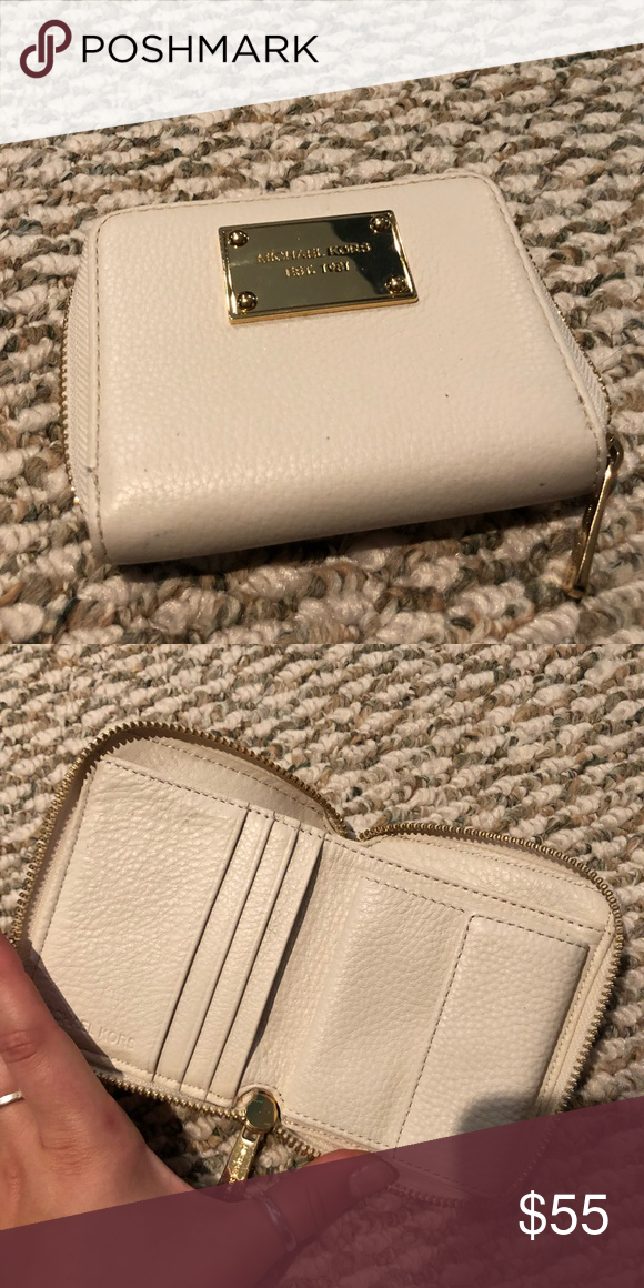 efcf623ff22a Michael Kors Michael Kors wallet with attached coin purse section. Gently  used. No major flaws. Some small scuffs on the Michael Kors plate.