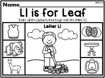 Fall / Leaves NO PREP Kindergarten Lang. Arts Pack