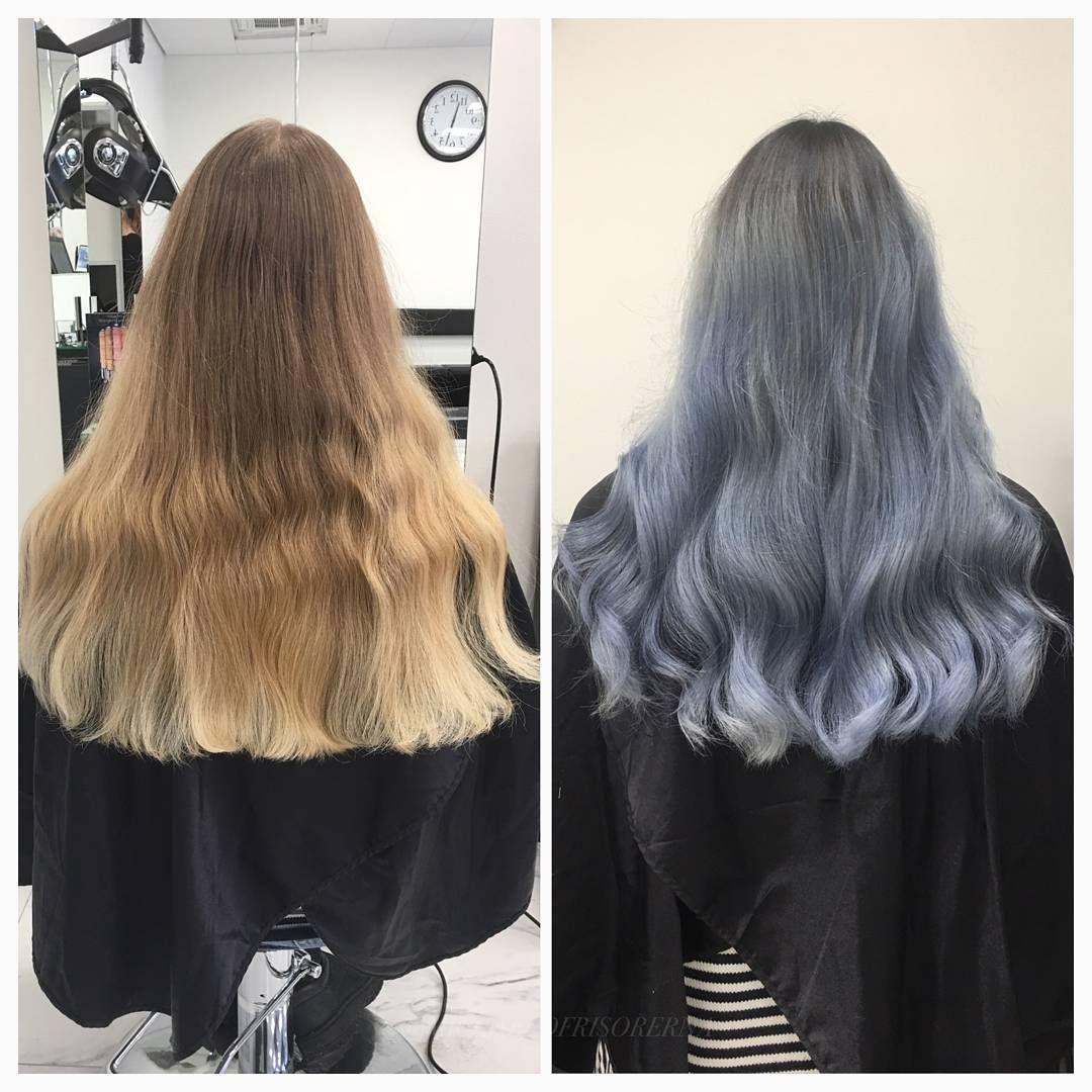 färga håret blått hos frisör