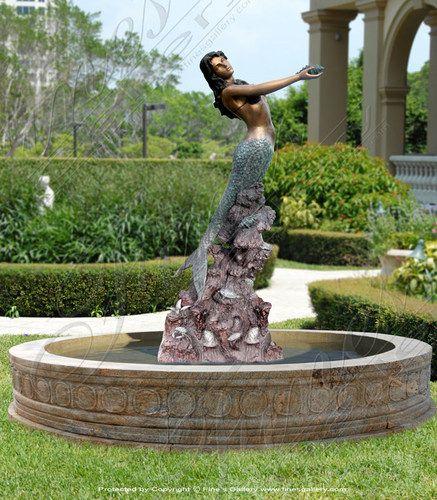 Delicieux Bronze Mermaid Fountain | EBay