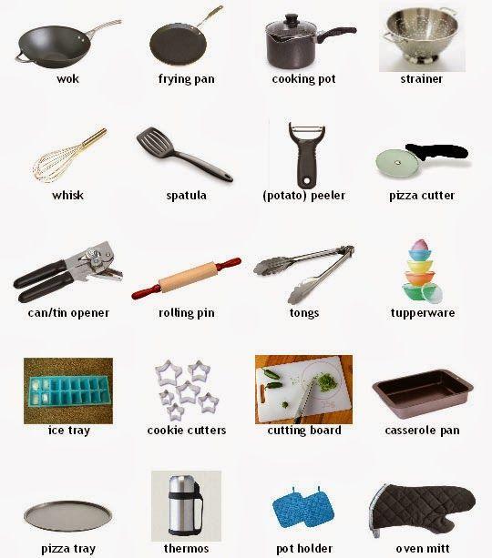 Kitchen utensils 4 vocabulary pin pinterest les - Les ustensiles de cuisine ...