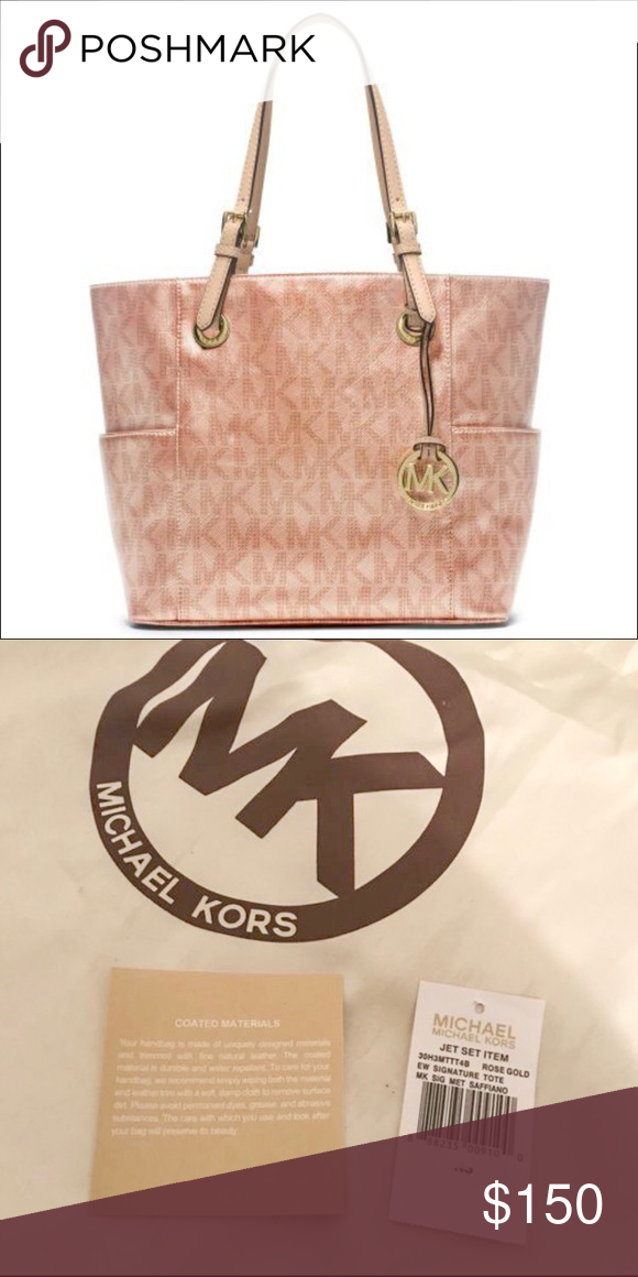 a3e484fb342b Authentic Michael Kors rose gold Bag Jetset tote Open box but never been  used. I