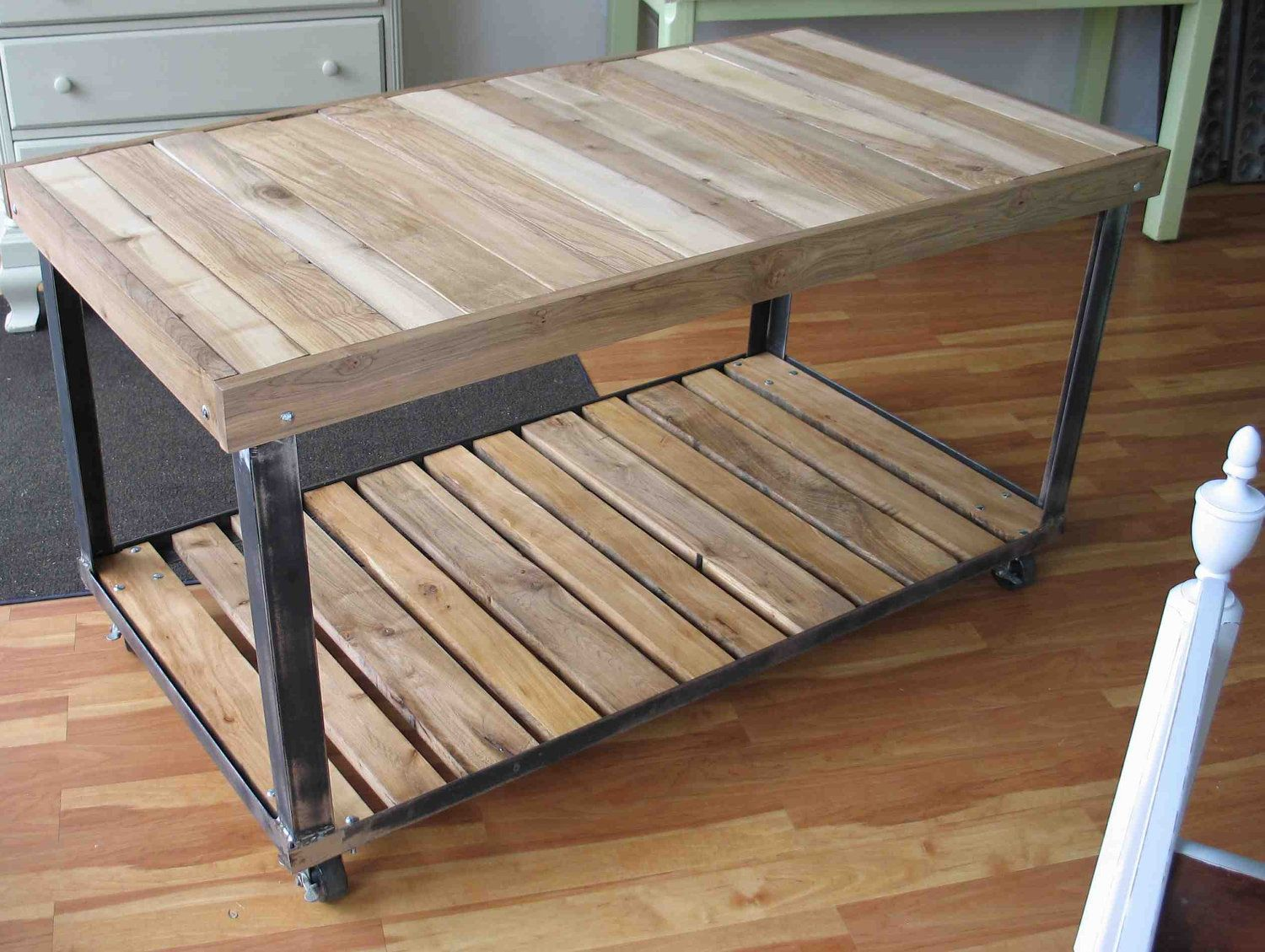 Kitchen Work Table Wood Angle Iron Work Table Work Table Pinterest Angles Tables