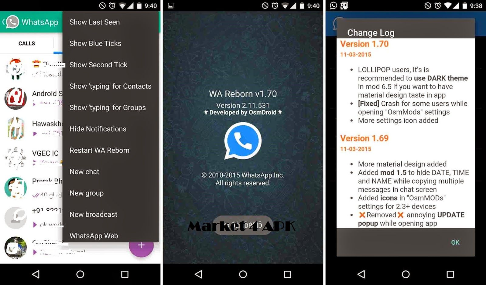 Market 4 Apk The All In One Site For Your Android Device Material Design Party Apps Whatsapp Last Seen