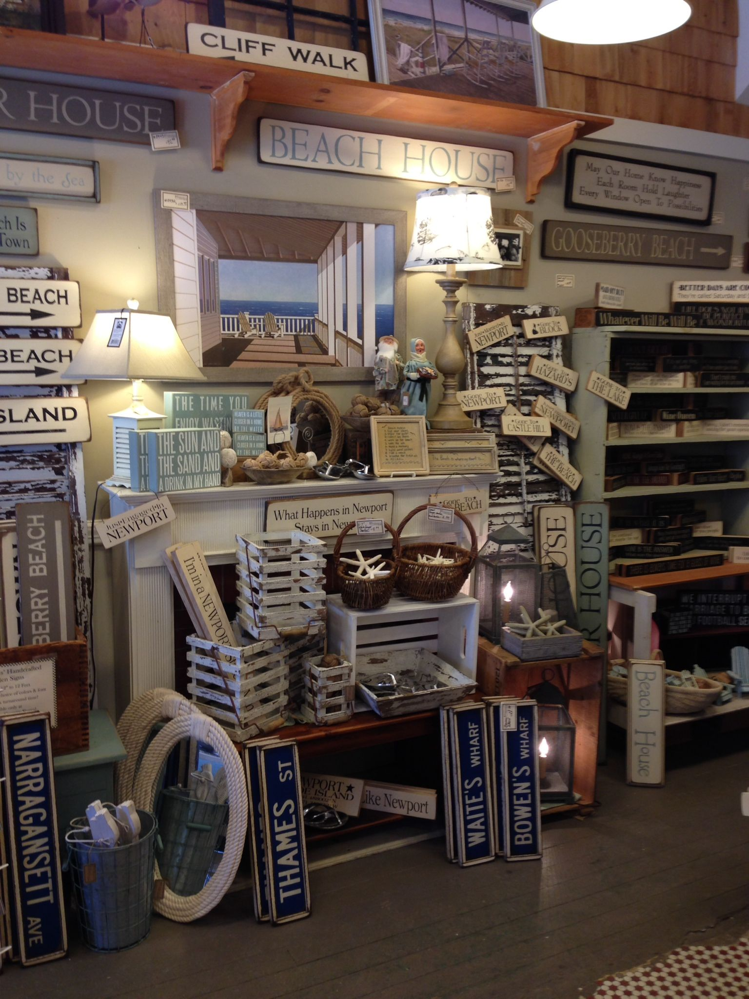 A very nautical fireplace here at Frazzleberries in