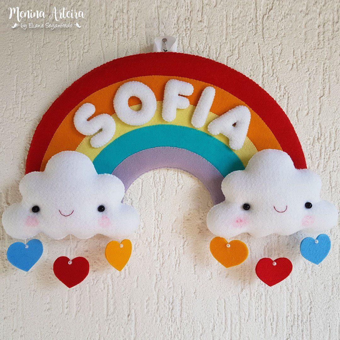 Enfeite Porta Maternidade Chuva De Amor De Feltro Passo A Passo