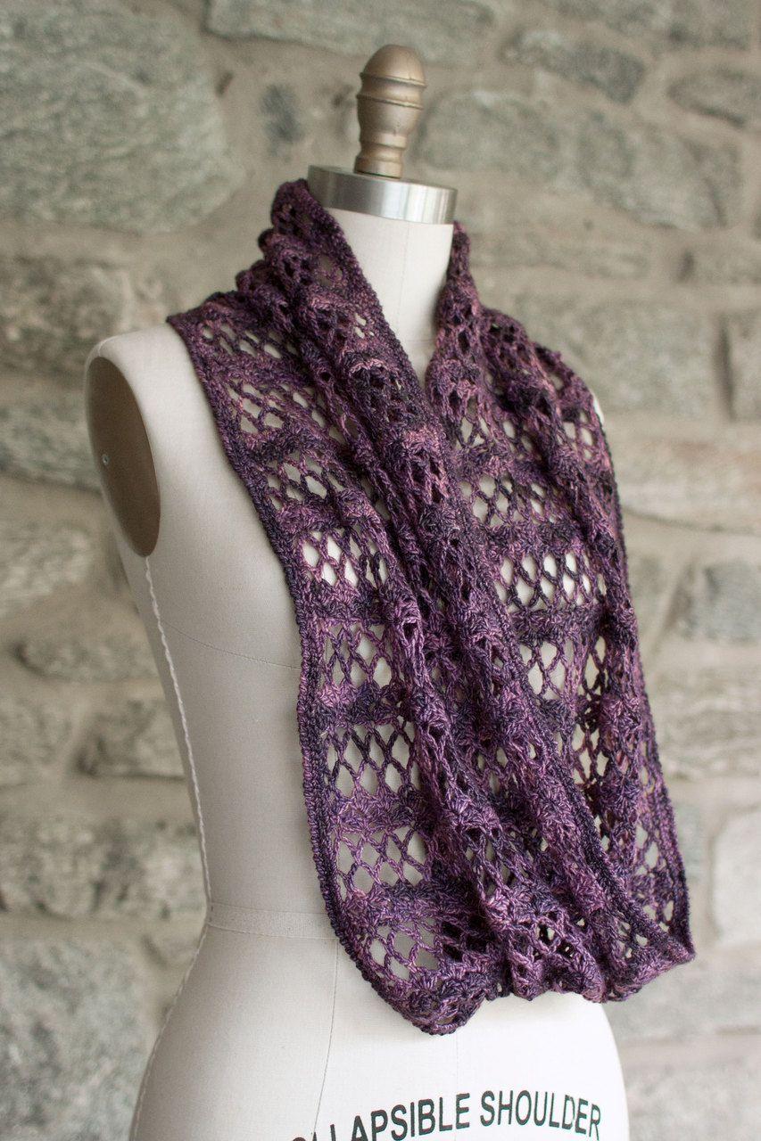 Manos Fino Membrillo Infinity Scarf Crochet Pattern 2014H ...