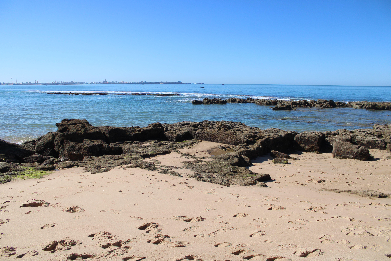 paisajes de la playa de santa catalina en El Puerto de Santa María
