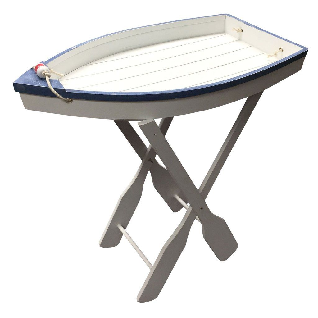 Nautical Boat Folding Tray Table White Rec rooms Pinterest