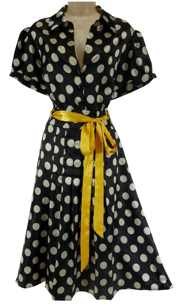d8e05d6045a 20W 2X SEXY Womens BLACK   WHITE SHINY POLKA DOT MIDI DRESS Summer PLUS  SIZE  Cato  PleatedMidi  Versatile