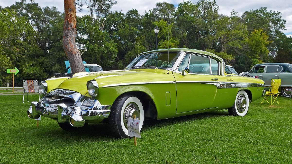 1955 Studebaker President Speedster front 3-4 2014 Orphan Car Show