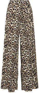 f0d248134a Alice + Olivia Leopard-print chiffon wide-leg pants on shopstyle.com ...