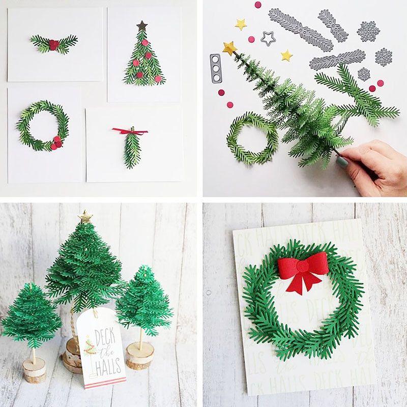 Christmas Tree With Foam Leaves Styrofoam Cone Diy Christmas Tree Christmas Diy Easy Christmas Diy