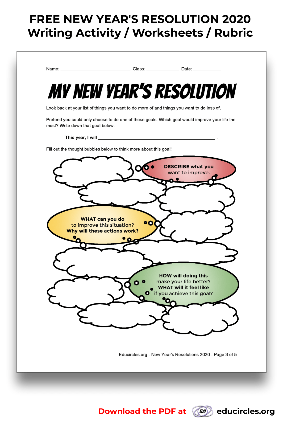 My New Year's Resolution step 3 Brainstorm how to