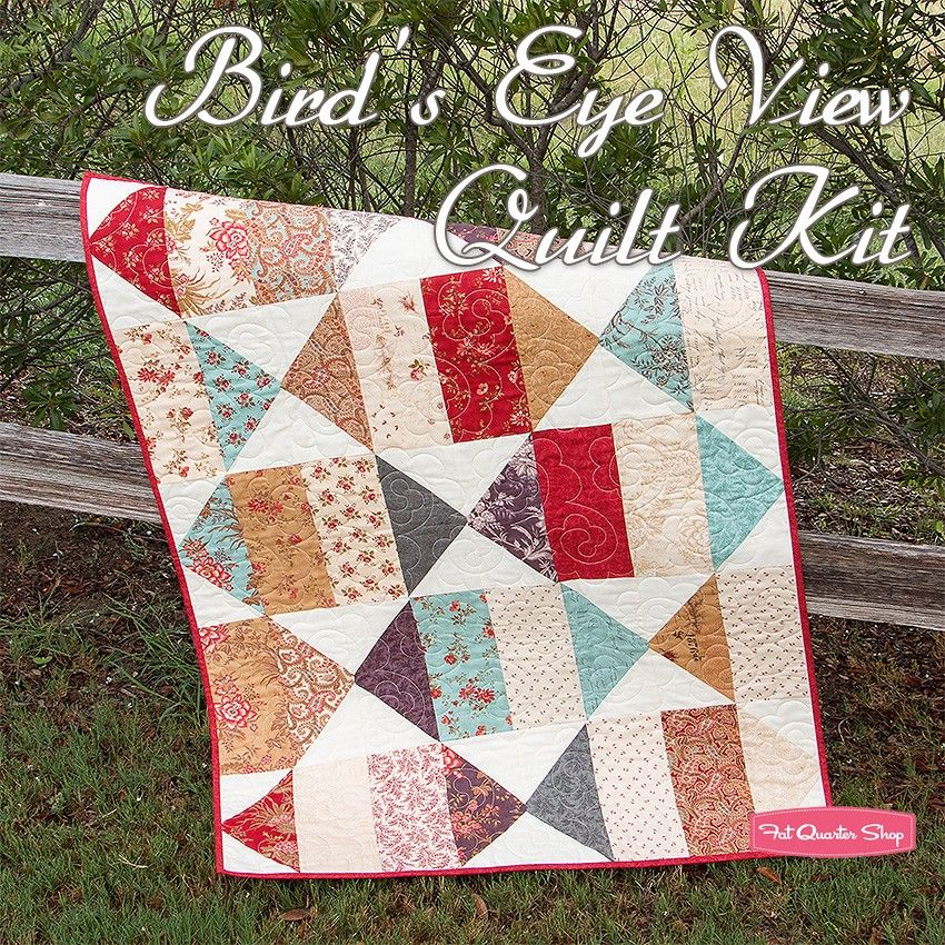 Bird S Eye View Quilt Kitfeaturing Atelier By 3 Sisters Fat