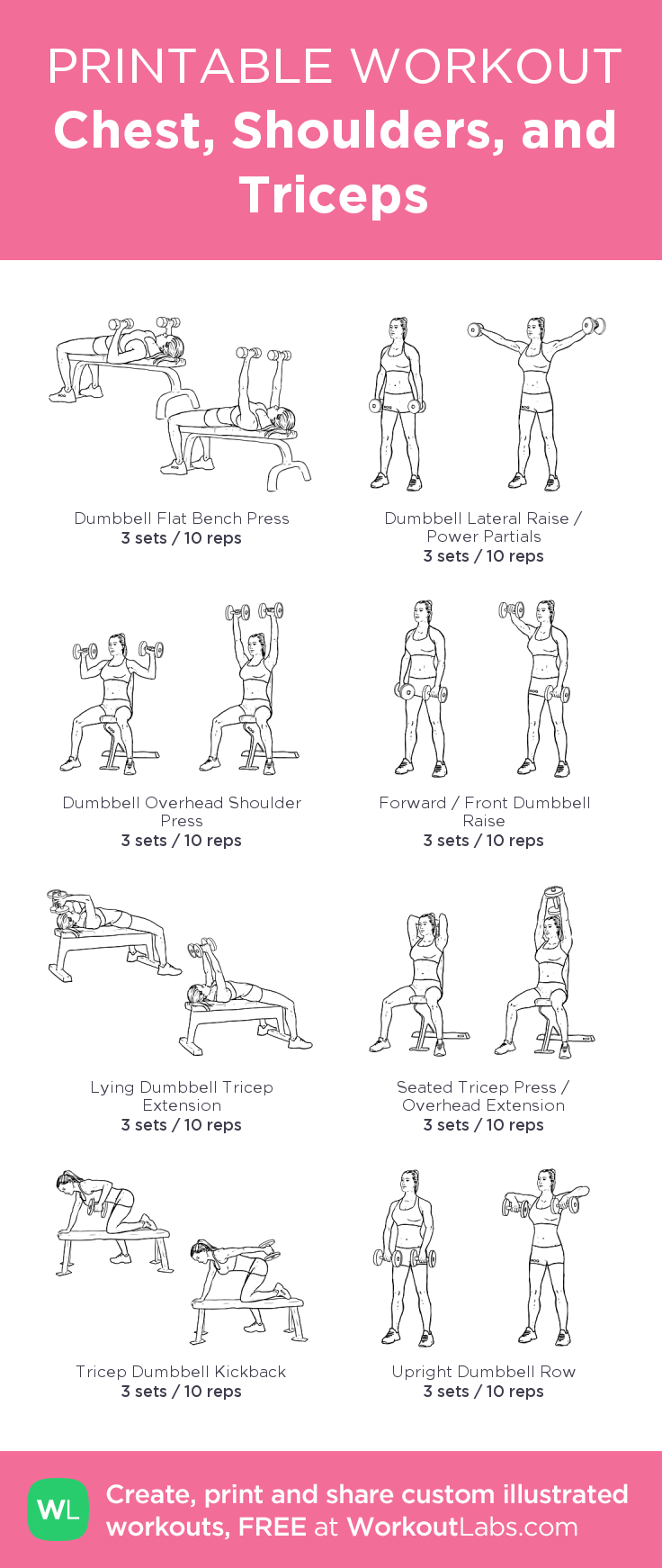 Chest, Shoulders, and Triceps · WorkoutLabs Fit