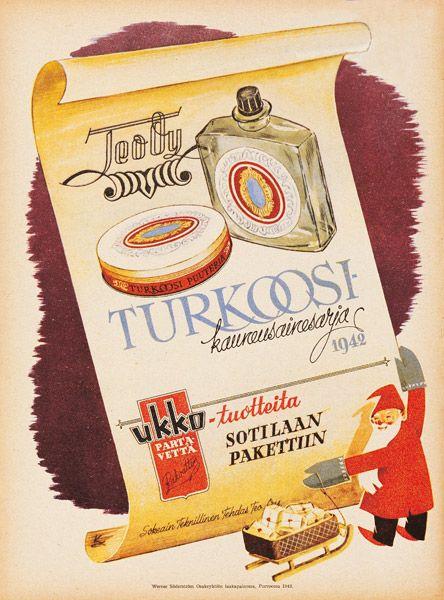 Mainos: Turkoosi-kauneusainesarja, 1942