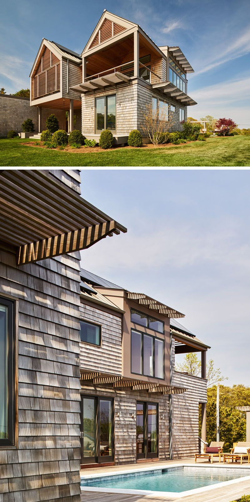 13 Examples Of Modern Houses With Wooden Shingles This New York