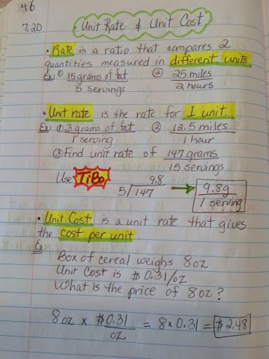 7th Grade Math Interactive Notebook - Maria Gonzalez - Picasa Web