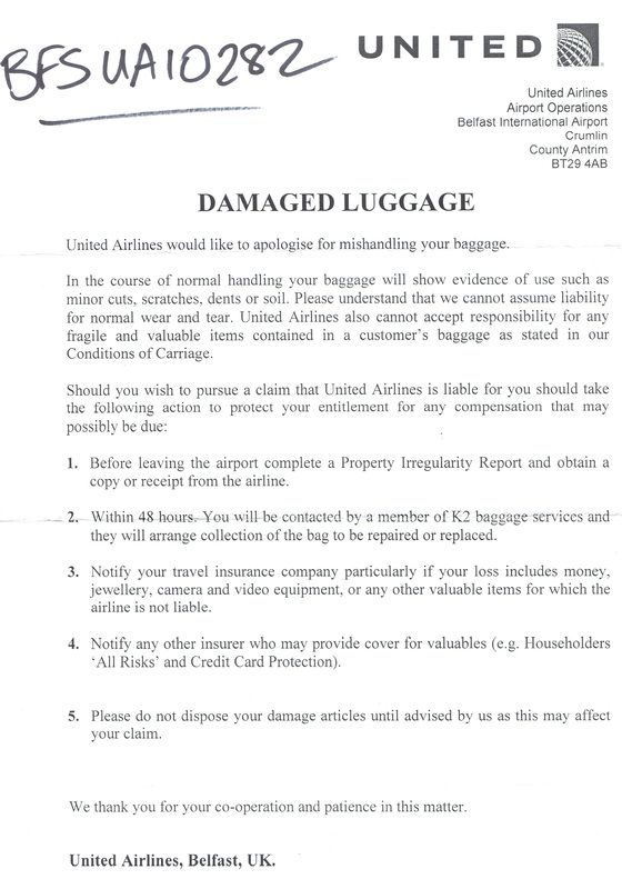 sample complaint letter airline lost luggage letters airlines - general liability release