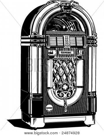 Jukebox 2 - Retro Clipart Illustration | Clip art vintage ...