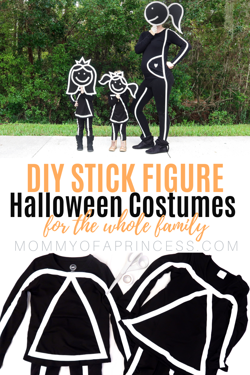 Easy DIY Stick Figure Halloween Costume for the Wh