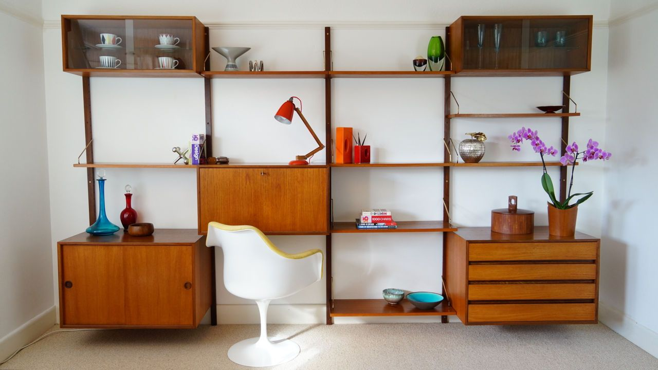 Cado Wall Shelving Unit 1 Royal System By Poul Cadovuis Vintage Retro 1960 S Idees De Meubles Mobilier Maison Rayonnage
