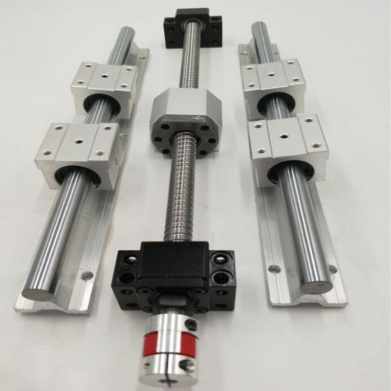 Linear guide rail SBR25-2400mm+2 x SFU2505-2460mm+2bkbf20+ Flexible