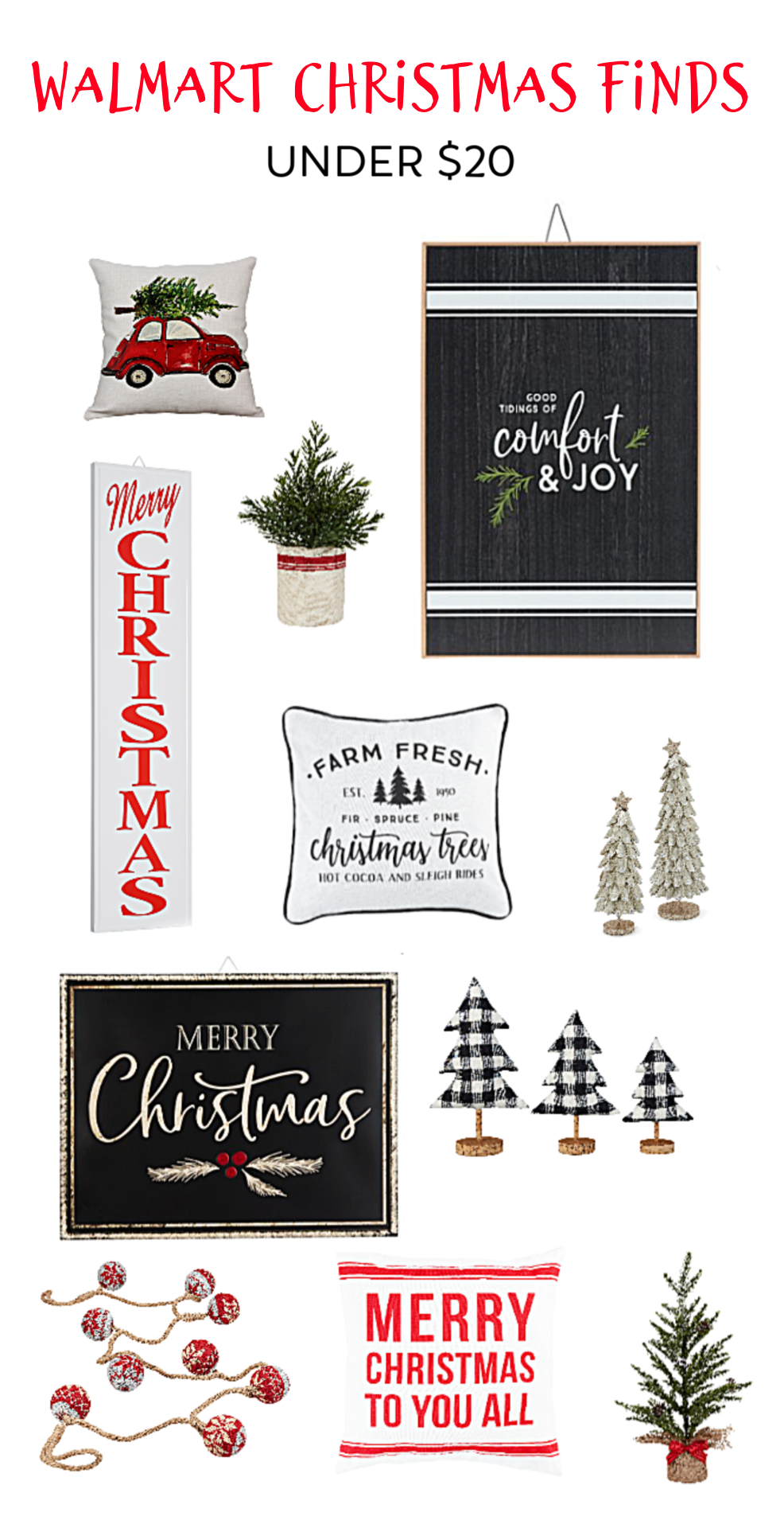 Walmart Christmas Finds Under 20 Merry Christmas To You Merry Christmas Sign Christmas Signs