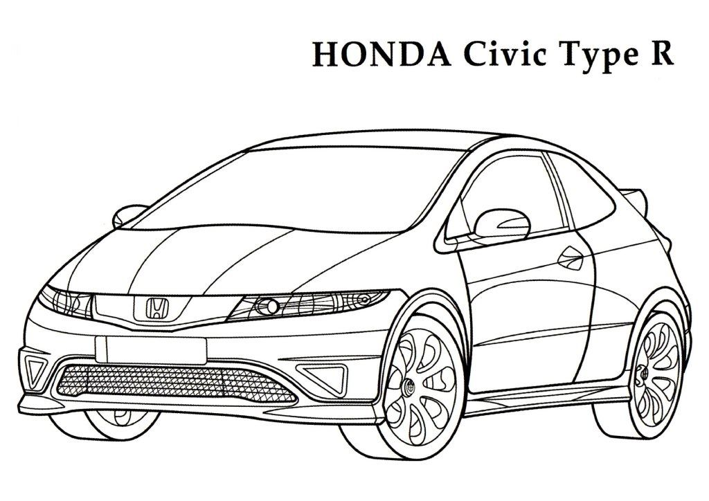 Printable Honda Coloring Pages For Preschoolers