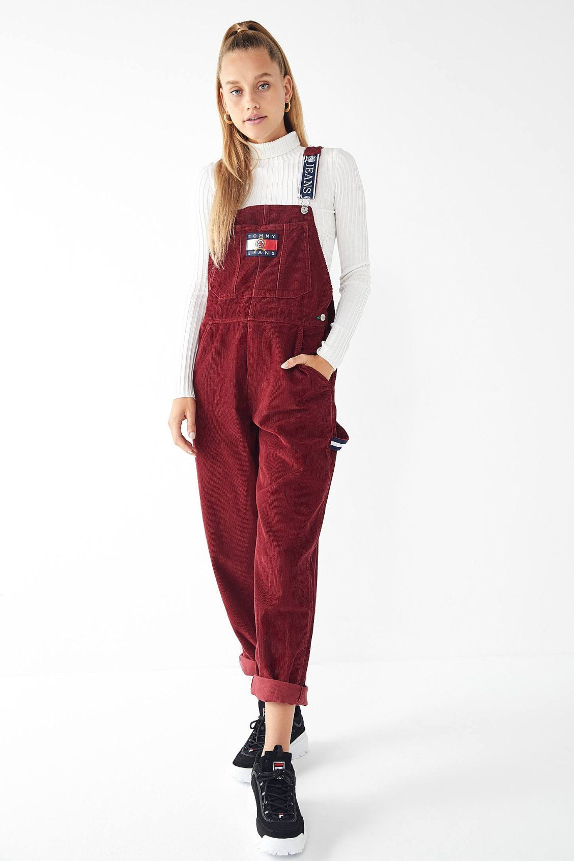 f80815437722e Tommy Jeans Corduroy Dungaree Overall | New Arrivals | Fashion ...