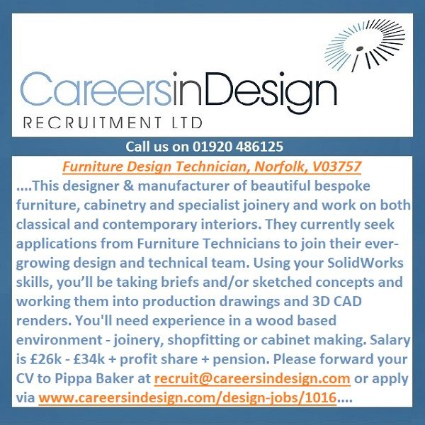Furniture Design Technician, Norfolk, V03757 In 2020