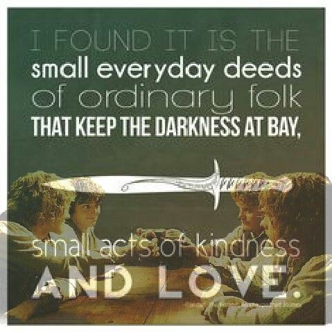 This Scene Is So Special And I Thought This Quote Is Perfect For Frodo, Sam