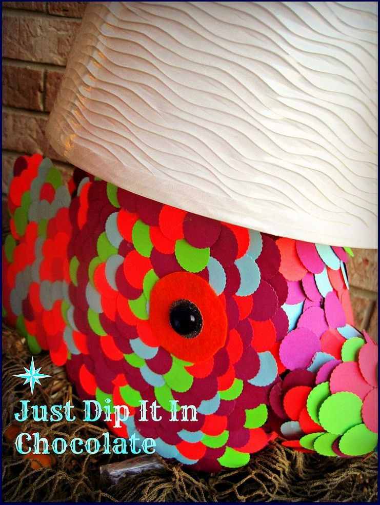 DIY Tide Pods Rainbow Fish Lamp #tidepodscontainercrafts