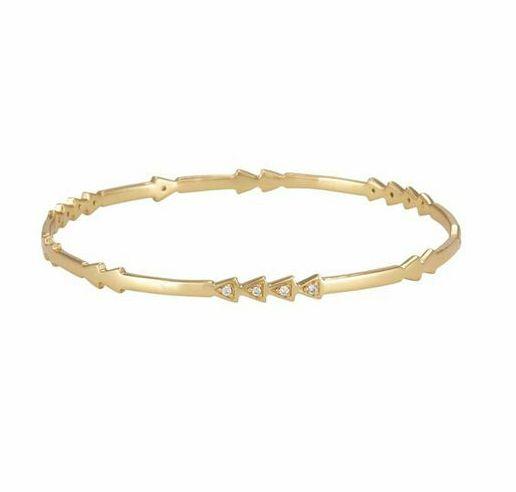 Melinda Maria Cece Pave Bangle Gold White CZ - Nespoli Jewelers