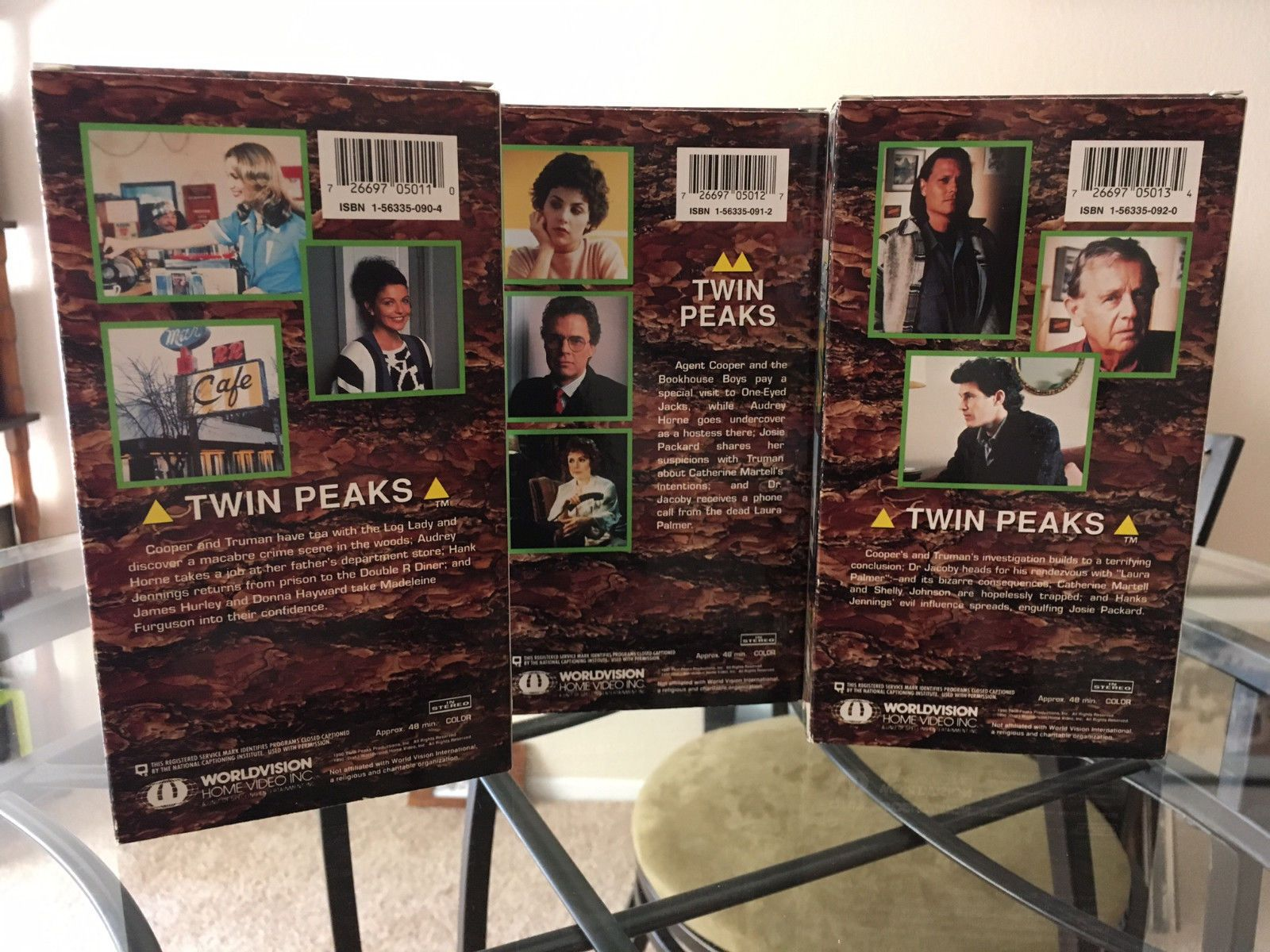 TWIN PEAKS VHS BOX SET Original Rare Used 1990 First Season Episodes 1-7. David LynchTwin Peaks