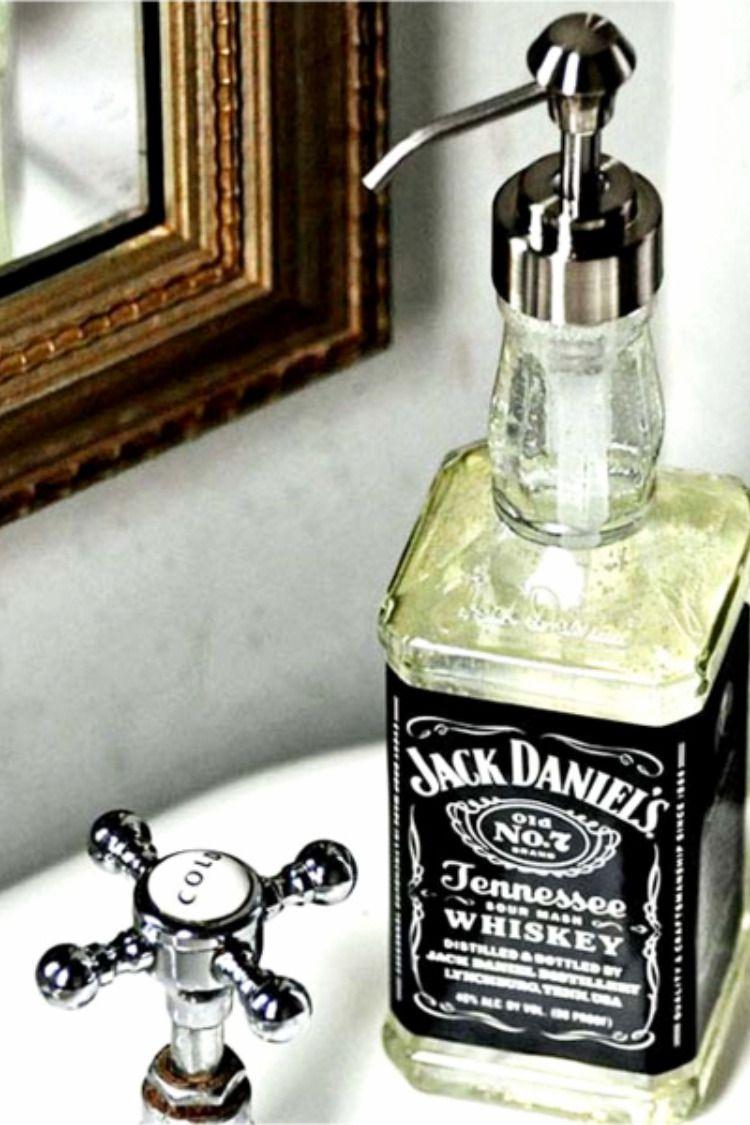 Empty Jack Daniels 1L Bottle