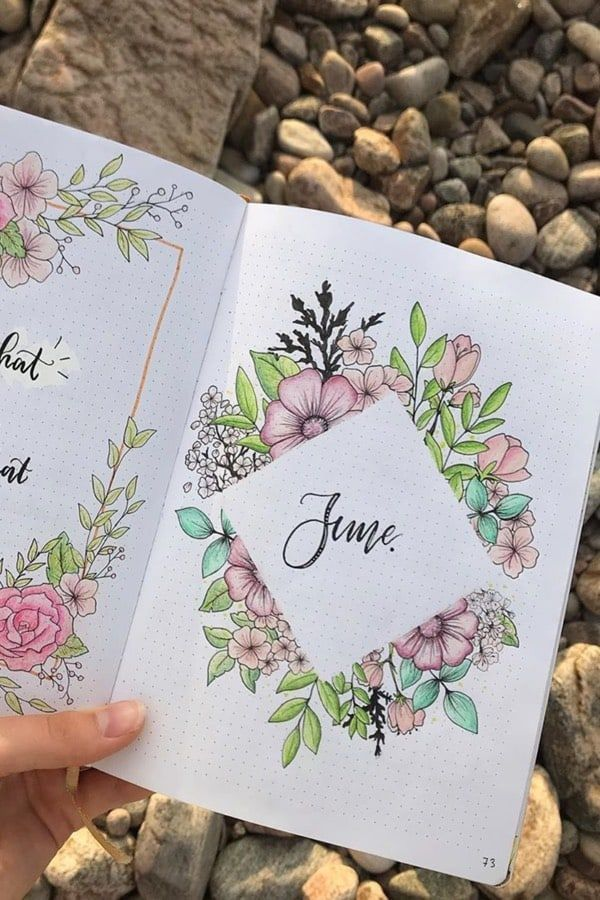 35 Adorable Bullet Journal Flower Ideas For 2019 - Crazy Laura