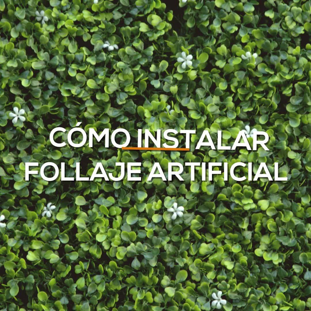 Photo of DIY Aprende a instalar paredes verdes de follaje artificial